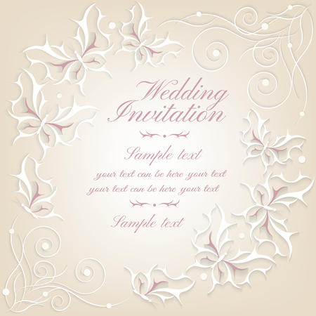 Abstract Elegant Invitation Card Greeting Card With Victorian