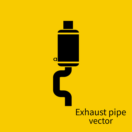 exhaust pipe: Exhaust pipe icon of the car on a background of isolation. illustration flat design. Pictograph pipe. Spare parts for car.