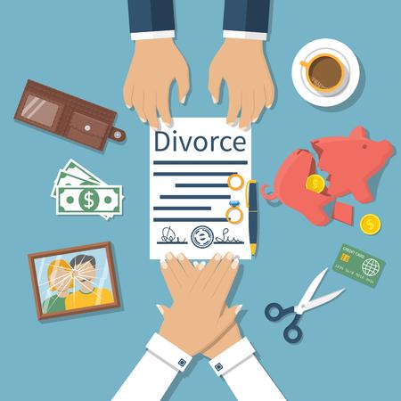 Image result for divorce settlement illustrations