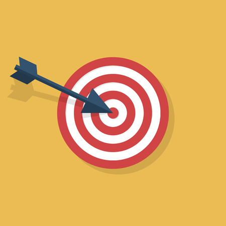 objective: Target icon isolated, flat style design. Targeting, arrow, objective, darts. Vector illustration.