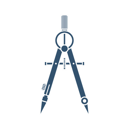 Drawing Compass Black Icon On A White Background Isolation Technical Tool Architect Engineer