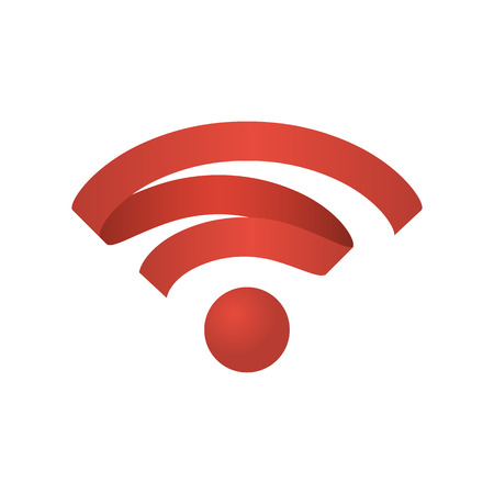 Wifi icon wireless network. Wi Fi  symbol a ribbon. Abstract vector Illustration. Isolated on white background. Illustration