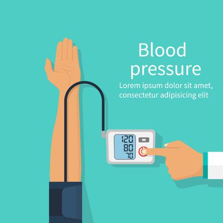 Doctor measuring patient blood pressure