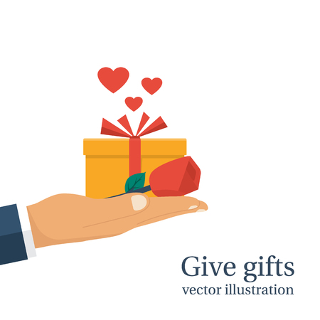 give: Give gifts vector