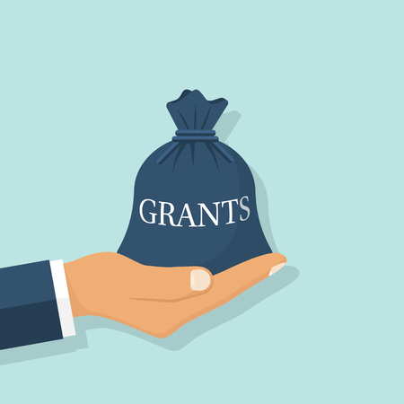 Grant funding, business concept Vectores