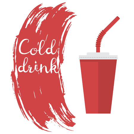 Cold drink. vector