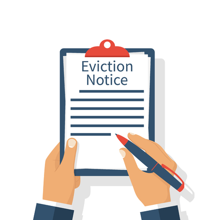 eviction: Eviction Notice Form Stock Photo