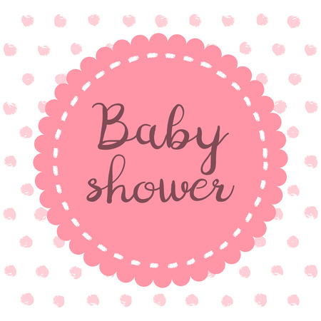 Baby shower girl invitation card place for text greeting baby shower girl invitation card place for text greeting cards vector illustration m4hsunfo