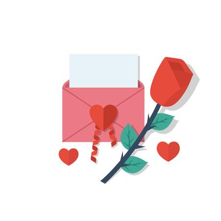 Love letter in envelope