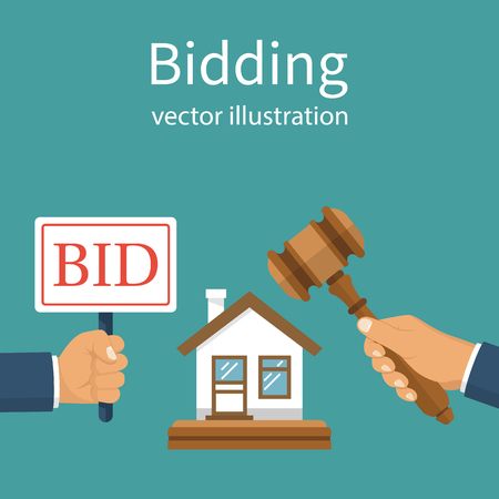 bidding: Bidding auction concept Illustration