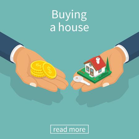 Huis kopen vector