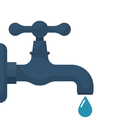 spigot: Water tap with falling drop
