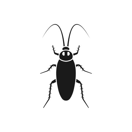 disgusting animal: Cockroach black icon