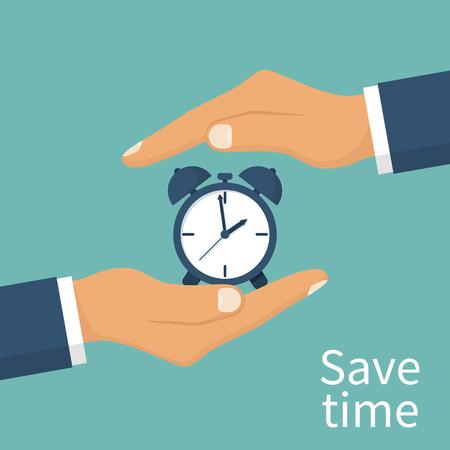 improving: Save time concept Illustration