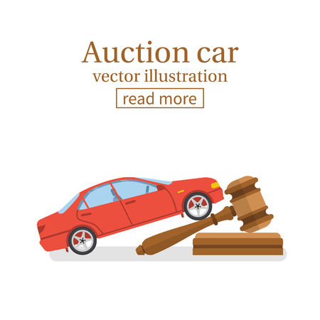 Auction car vector Фото со стока - 75670787