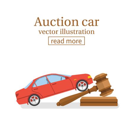 Veiling auto vector Stock Illustratie
