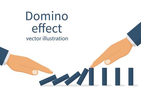 interruption: Domino effect concept