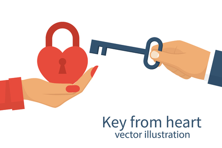 Key from heart Illustration
