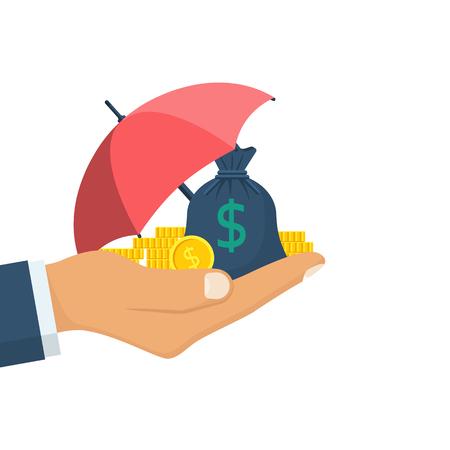 Protection money concept. Vektoros illusztráció