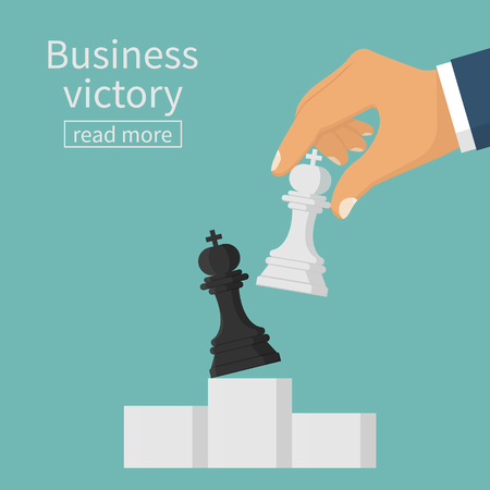 Business victory concept
