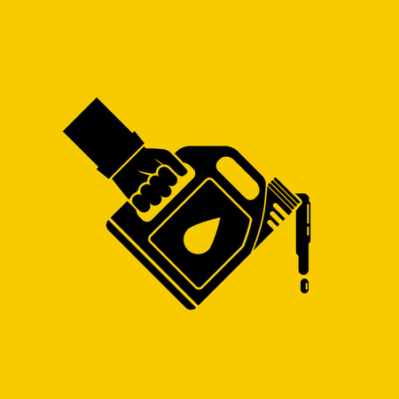 Replacement motor oil icon Illustration