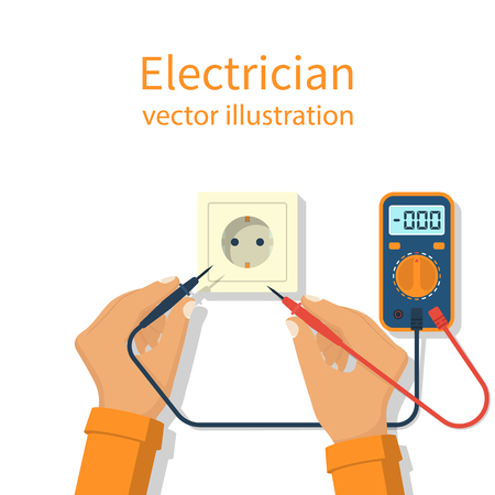 ammeter: Professional electrician icon