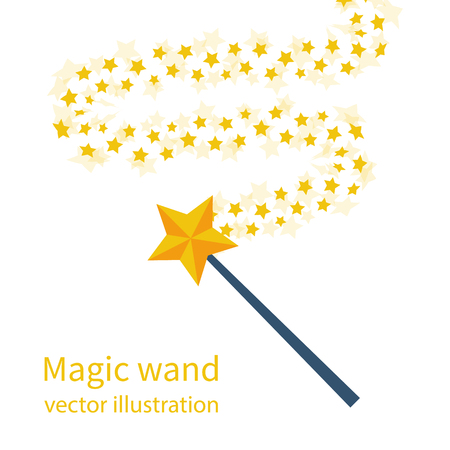 Magic wand with a star Illustration