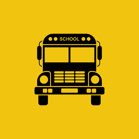 yellow schoolbus: School bus icon