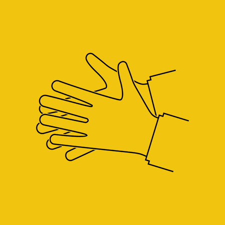 Wash hands. Silhouette black icon.