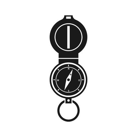 Compass silhouette icon