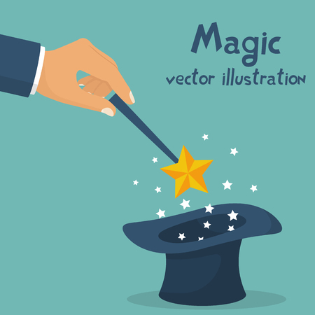 Hand holding magic wand.