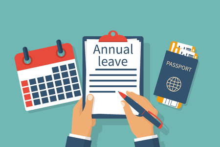 Annual leave vector Illustration