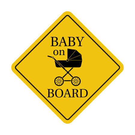 forewarning: Baby on board, sticker