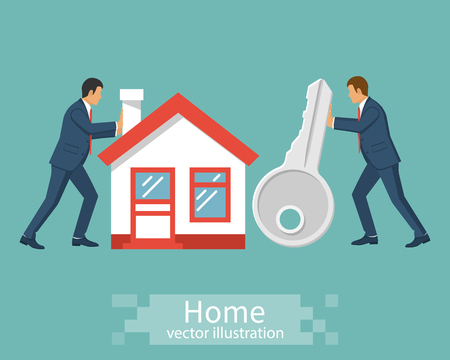 Huis kopen. Mensen zakenman