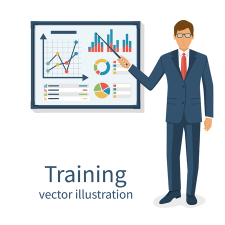 Business training concept. Vectores