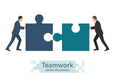 solve: Business concept. Teamwork metaphor.