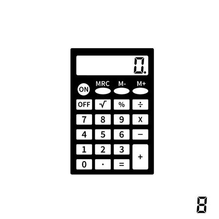 Calculator icons flat design vector illustration
