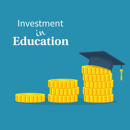 Investment in education vector Illustration