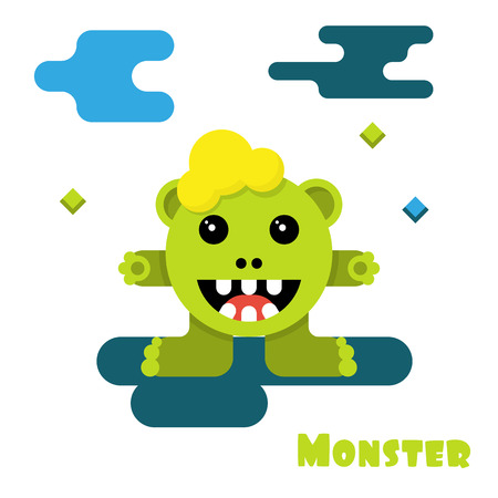 Monster cartoon vector. Vector illustration. Illustration