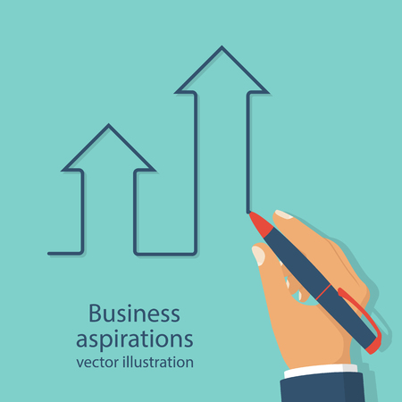 Business aspirations vector Illustration