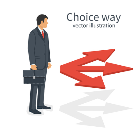 Choice way concept Illustration