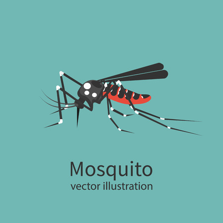 infective: Mosquito icon isolated on background. Illustration