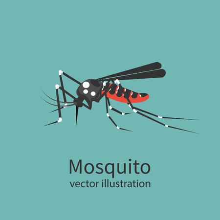 Mosquito icon isolated on background. Illustration