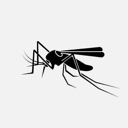 Mosquito black silhouette