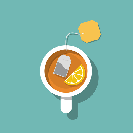 Cup of tea isolated on background Illustration