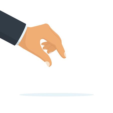 Cueillette de la main vecteur Vecteurs