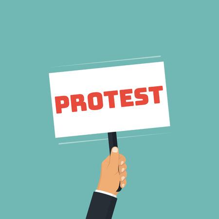 Protest concept vector illustration.