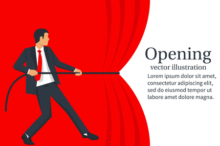 Grand opening concept. Vector illustration.