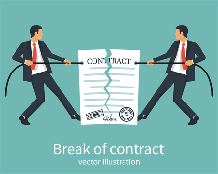 Break of a contract Illustration