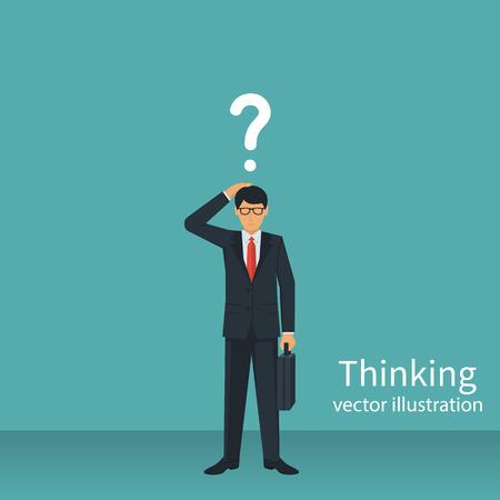 Thinking businessman vector Reklamní fotografie - 85366509